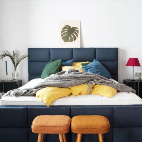 Hilding - styl łóżek tapicerowanych